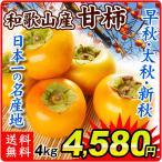 柿 和歌山産 ご家庭用  和歌山の柿 早秋 新秋 太秋 各4kg 1組 送料無料