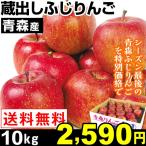りんご 青森産 蔵出しふじりんご 10kg 1組 送料無料 サンふじ 売り尽くし
