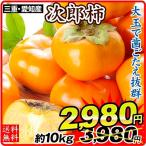 柿 三重・愛知産 次郎柿 約10kg1箱 送料無料 食品 グルメ 国華園