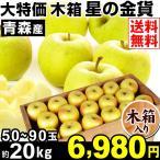 りんご 青森産 大特価 木箱 星の金貨 約20kg1箱 送料無料 ご家庭用 林檎 食品