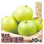 りんご 青森産 大特価 ご家庭用 王林 10kg 1箱 国華園【数量限定】 国華園