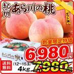 桃 和歌山産 ギフト用 あら川の桃(4kg)12〜18玉 贈答用に もも ピーチ フルーツ 国華園