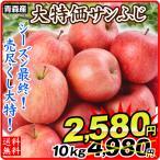 りんご 青森産 ご家庭用 サンふじ(10kg)24〜56玉 林檎 フルーツ 国華園