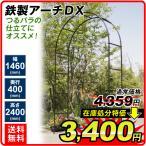 ガーデンアーチ ローズアーチ バラアーチ 鉄製アーチDX 1個 ガーデニング 幅146・奥行40・高さ240 国華園