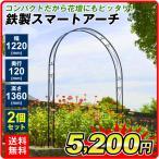 アーチ 鉄製スマートアーチ 2個1組 幅122・奥行12・高さ136 ガーデンアーチ ローズアーチ ガーデニング