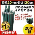 園芸支柱 支柱 打込み支柱 直径20mm・長さ120cm 20本1組