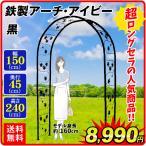 バラアーチ 鉄製アーチ・アイビー 1個 幅150・奥行45・高さ240 ガーデンアーチ ローズアーチ ガーデニング