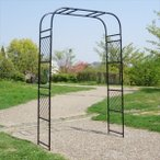 バラアーチ 鉄製アーチ・ルント 1個 ガーデンアーチ ローズアーチ ガーデニング