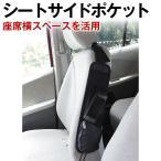 車用シートサイドポケット 2個組 通常価格734円がクリアランス価格で85%OFFの108円に メッシュ 収納ポケット