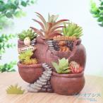鉢 植木鉢 ポリ製 多肉植物 寄せ植え かわいい プチオアシス・ポットの森 小 1個 女性 プレゼント