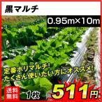 農業用マルチ メール便対応 送料無料  黒マルチ 0.95×10m 1枚1組 少量 短い 使い切り ≪代引不可≫