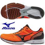 ミズノ MIZUNO/陸上 ランニング マラソンシューズ/ウエーブエンペラー 2/オレンジ×ブラック/J1GA177609