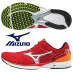 ミズノ MIZUNO/陸上 ランニング マラソン シューズ/ウエーブエンペラー  2 ワイド/オレンジ×シルバー/J1GA177703