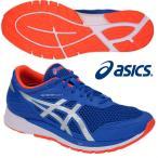 アシックス ASICS/メンズ ランニング  マラソン シューズ/ゲルフェザー グライド 4/GELFEATHER GLIDE 4/TJR455 401/イリュージョンブルー×NOVAオレンジ