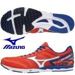ミズノ MIZUNO/陸上 マラソン シューズ/ウエーブ クルーズ 13/WAVE CRUISE 13/U1GD186054/オレンジ×ホワイト×ブルー