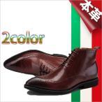ショッピング本革 本革 ロングノーズ サイドファスナー イタリアレザー シューズ レースアップ ダブルファスナー ビジネスシューズ ブラック ワイン 本革 靴 ビジネス靴 Shoes