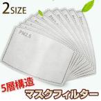 マスクフィルター 10枚 活性炭 花粉 ウィルス ほこり 粉塵 PM2.5 防止 成人用 子供用 送料無料 メール便