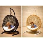 ラタン家具 ハンギングチェアー ペット用 ミニ ハンギング ゆりかご椅子