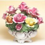 やっと見つけた 北イタリア・ヴィチェンツァ製ローズ色 薔薇の陶花グランデ・ミスト