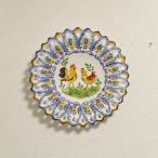 ポルトガル製 アルコバッサ 飾り皿 プレート トリ柄 鳥 ハンドペイント 絵皿 40cm 壁掛け