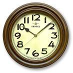 昭和初期時代をイメージした、ろくろ挽きのレトロな壁時計。