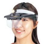 ルーペ ライト付き ライト付ヘッドルーペバイザー おしゃれ レンズ LEDライト付き 拡大鏡 作業用 便利 精密作業 ヘッドライト
