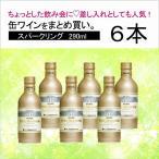 国産ワイン モンデ酒造 プティモンテリア スパークリング 290ml(4964044043330)×6本セット 缶ワイン 山梨 甲州