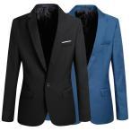 メンズスーツジャケット 長袖テーラードジャケット スリム スーツアウター カジュアル 春夏秋ピーコート 6色*9サイズ ブレザー 大きいサイズ 通勤