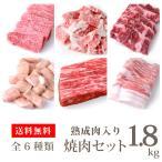 焼肉セット 熟成肉300g 特上カルビ300g ハラミ300g 焼肉用黒豚バラ300g 上切り落とし300g マルチョウ300g 合計1.8kg(kagoshimabeef)