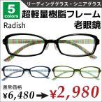 おしゃれ 老眼鏡  安い 軽い かわいい リーディンググラス ケース付き メガネ拭きサービス 女性用 軽量メガネ ストライプ柄 鼻パット付き