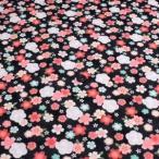 リップルプリント(桜とうさぎ 黒)