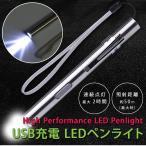 LED ペンライト USB充電式 ハンディライト キャンプ アウトドア 防災 防犯 釣り フィッシング  DM便発送のみ送料無料  便利グッズ LEDライト
