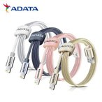 ADATA Lightningケーブル 1m 全4色 MFi認証 データ転送&充電用 2.4A急速充電対応 AMFIAL-100CMK(メール便送料無料)