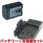 JVC(ビクター)ビデオカメラ用 VG114互換バッテリー&充電器 残量表示可【メール便送料無料】