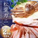 【ご予約】松葉ガニ(カニ 蟹 かに)3〜6枚 2キロ  ズワイガニ 訳あり(松葉がに/松葉蟹)鳥取産 約2キロ詰(3〜6枚入)送料無料≫