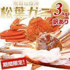 【予約】松葉ガニ (カニ 蟹 かに) 6〜8枚 約3キロ  ズワイガニ  訳あり(松葉がに/松葉蟹)鳥取産 松葉蟹(中サイズ6〜8枚)3キロ以上 送料無料≫