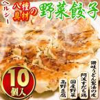 【八種具材の野菜餃子-10個(10個入×1袋)】冷凍 もちもち 讃岐 お取り寄せ 激ウマ 得々セール