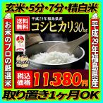 新米 米 お米 30kg 福島県産 コシヒカリ 29年産 送料無料