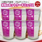 送料無料!米粉のホットケーキミックス・300g×6袋(小麦粉フリー・アルミフリー)