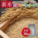 【令和元年度産・送料無料】ミルキークイーン・30kg・減農薬玄米