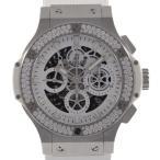 ウブロ ビッグバンアエロバンオールホワイトダイヤモンド JAPAN LTD 自動巻