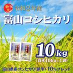 送料無料 米 10kg お米 安い 29年新米 富山コシヒカリ10% 10kg×1 ブレンド米