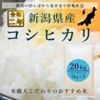 新米 新潟県産コシヒカリ 白米 20キロ (5kg×4袋)  こしひかり 令和元年産 業務用価格でご提供!!
