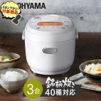 炊飯器 3合 アイリスオーヤマ 一人暮らし 家電 3合炊き マイコン式  銘柄炊き ジャー炊飯器 RC-MB30-B ブラック(あすつく)