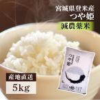 新米 令和元年産 お米 5kg 減農薬米 お米 つや姫 送料無料 宮城県産 安い 5キロ 5kg おいしい ご飯 白米 うるち 精白米 赤ちゃん 離乳食:予約品