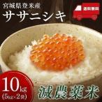 お米 29年 5キロ×2袋 宮城県産 ササニシキ ささにしき 減農薬米 10kg (5kg×2) 米 ごはん うるち米 精白米