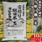 お米<送料無料>新潟県安塚産棚田米コシヒカリ 玄米10kg 令和2年産 精米無料