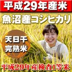 ◆平成29年産米◆ 天日干し完熟米 <送料無料>新潟県南魚沼しおざわ産コシヒカリ 玄米30kg
