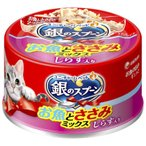 Yahoo!コメリドットコム銀のスプーン 缶 お魚とささみミックス しらす入り