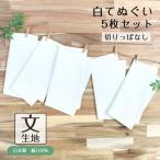 白手ぬぐい 5枚セット 文生地 切りっぱなし 日本製 手拭い 晒 白無地 日本製 ふきん 手拭い TE-9009-08【メール便1点まで】